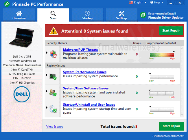 Pinnacle PC Performance