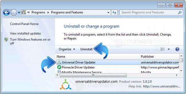 Universaldriver Uninstall