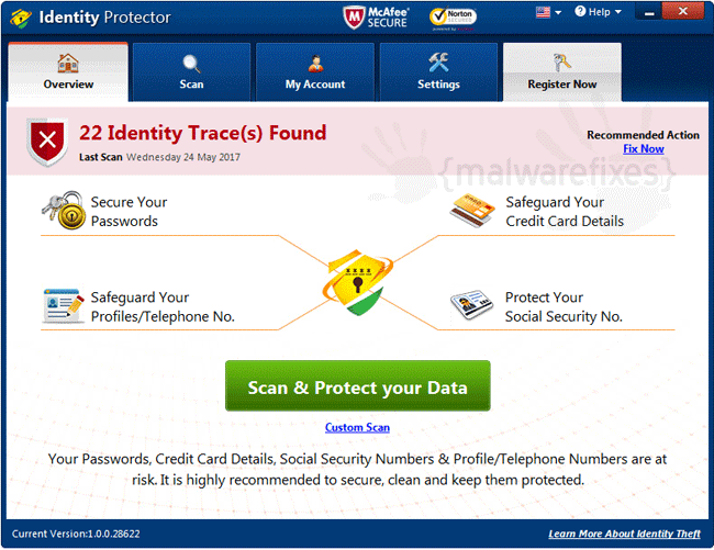 Screenshot of Identity Protector Scanner