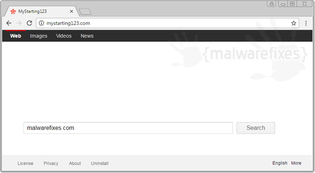 Screenshot of MyStarting123.com