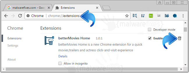 BetterMovies Home Chrome Extension