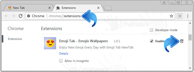 Emoji Tab Chrome Extension