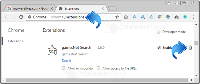 GamesNet Search Chrome Extension