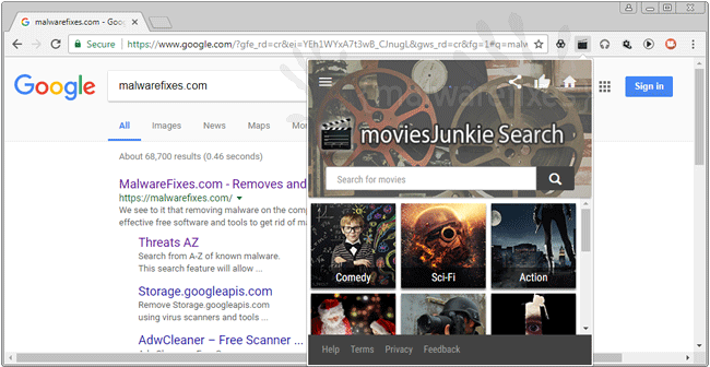MoviesJunkie Search