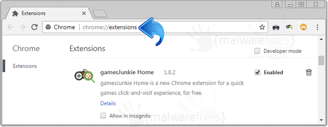 GamesJunkie Home Chrome Extension