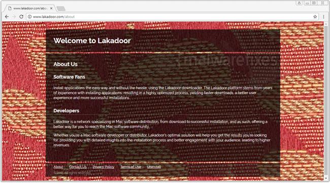 Screenshot of Lakadoor website