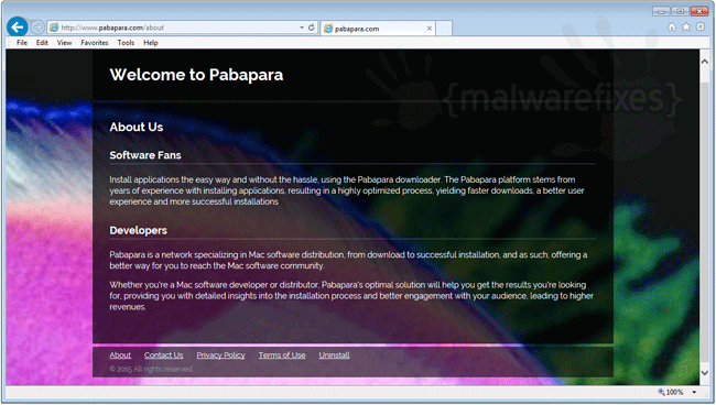 Screenshot of Pabapara website