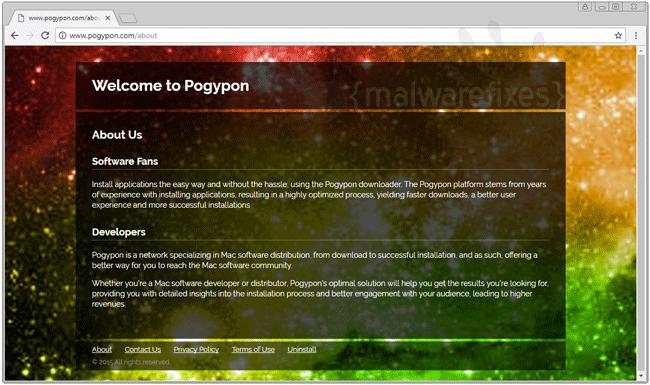 Screenshot of Pogypon website