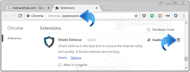 Shield Defense Chrome Extension