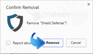 Delete Shield Defense from Chrome
