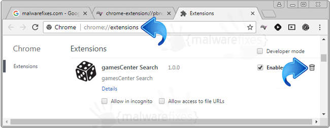 Games Center Search Chrome Extension