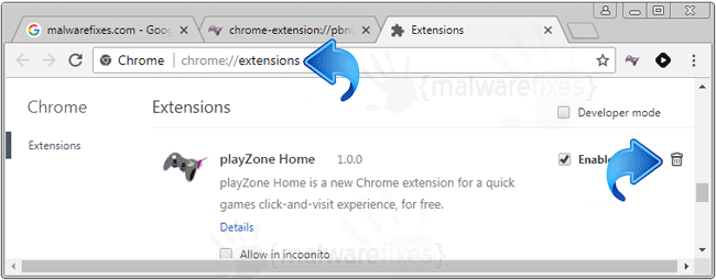 Play Zone Home Chrome Extension