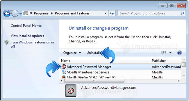 Add-Remove Advanced Password Manager