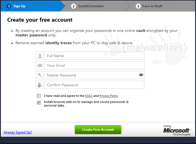 Advanced Password Manager Account