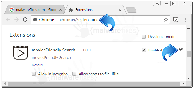 MoviesFriendly Search Chrome Extension