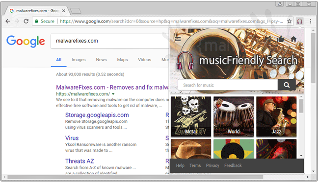 MusicFriendly Search