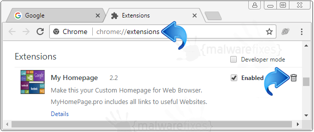 MyHomePage.pro Chrome Extension