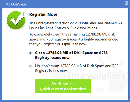 Register PC OptiClean