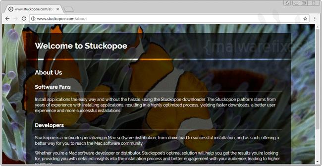 Image of Stuckopoe website