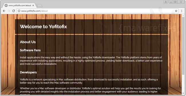 Screenshot of Yofitofix website