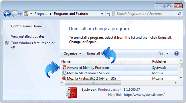 Advanced Identity Protector Uninstall