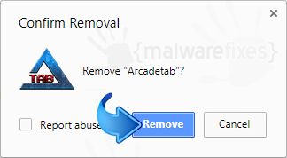 Delete ArcadeTab from Chrome