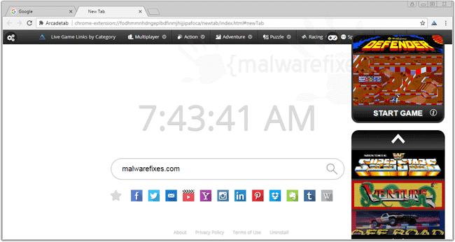 Screenshot image of ArcadeTab
