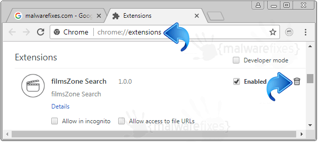 FilmsZone Search Chrome Extension