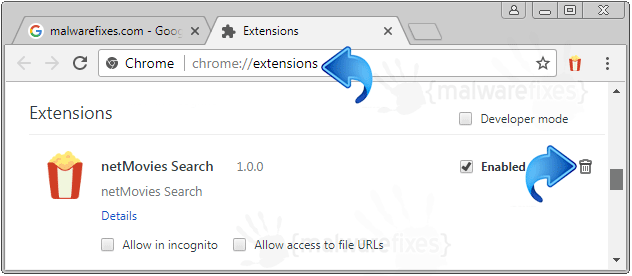 NetMovies Search Chrome Extension