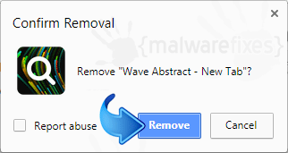Delete Wave Abstract from Chrome