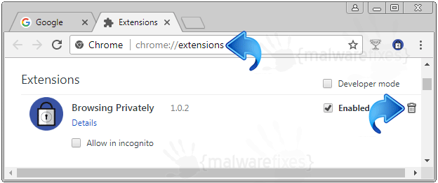 Browsing Privately Chrome Extension