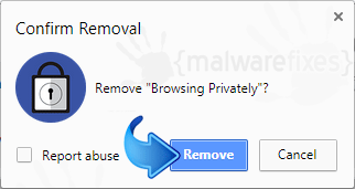 Delete Browsing Privately from Chrome