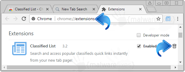 Search.hlocalclassifiedlist.com Chrome Extension