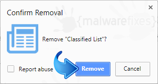Remove Search.hlocalclassifiedlist.com from Chrome