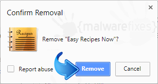 Delete Search.heasyrecipesnow.com from Chrome
