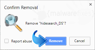 Delete Search.hidesearch.bid from Chrome