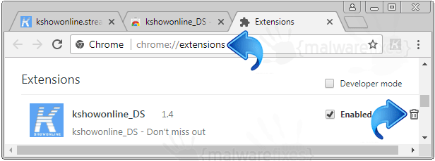 Search.kshowonline.stream Chrome Extension