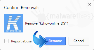 Delete Search.kshowonline.stream from Chrome