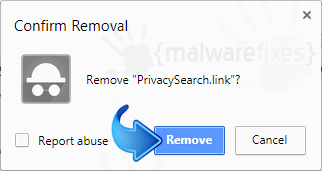 Delete PrivacySearch.link from Chrome