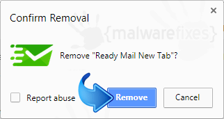 Delete Ready Mail New Tab from Chrome