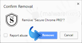 Delete Secure Chrome Pro from Chrome