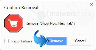 Delete Now New Tab from Chrome