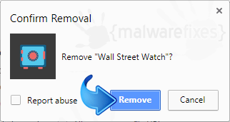 Delete Search.hwallstreetwatch.co from Chrome