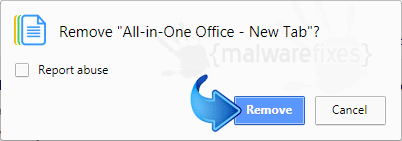 Delete All in One Office - New Tab from Chrome