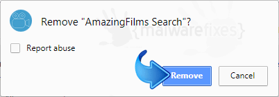 Delete AmazingFilms Search from Chrome