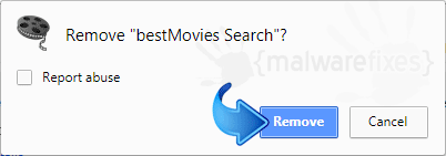 Delete BestMovies Search from Chrome