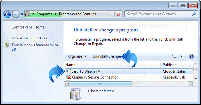 Add-Remove Easy To Watch TV