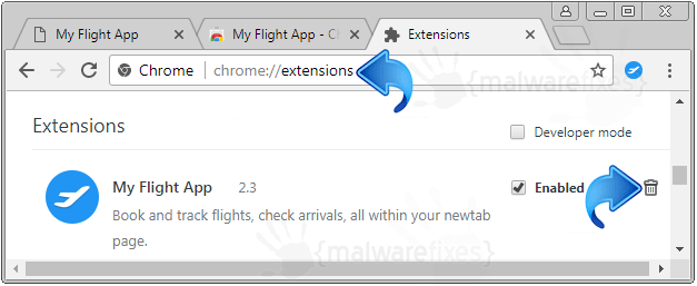 My Flight App Chrome Extension