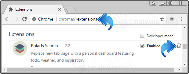 Polaris Search Chrome Extension