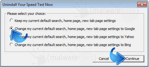 Delete Search.yourspeedtesthub.com from Homepage